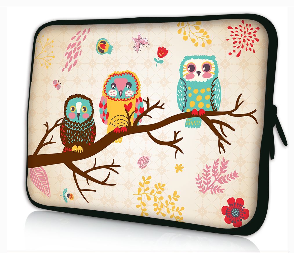 "Cool OWL 13"" Laptop Sleeve Bag Case PC Pouch Cover For 13.3"" Samsung Series 5 9 Ultrabook,13.3"" Apple MacBook Pro Air"