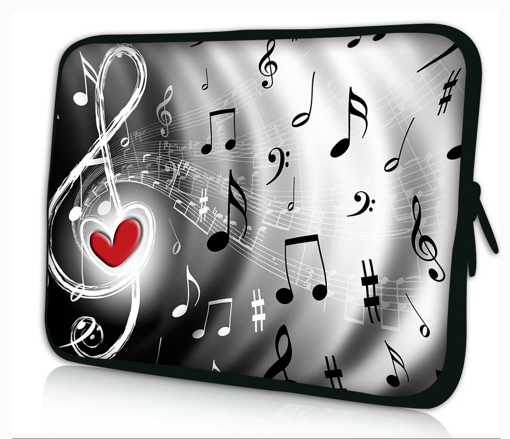 "Music Note 13"" Laptop Sleeve Bag Case PC Pouch Cover For 13.3"" Samsung Series 5 9 Ultrabook,13.3"" Apple MacBook Pro Air"